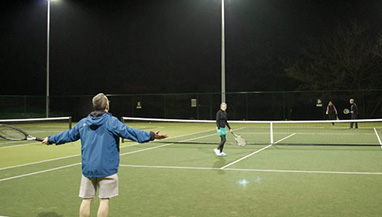 led tennis court flood lights optimize the use of field at night